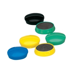 5 Star Office Round Plastic Covered Magnets 30mm Assorted [Pack 10] Image