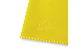 5 Star Office (A4) Folder Cut Flush Polypropylene Copy-safe Translucent 120 Micron Yellow (Pack 25)