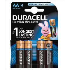Duracell (AA) Ultra Power MX1500 Batteries 1.5V (1 x Pack of 4) Image
