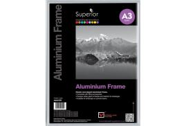 Unbranded Photo Frame (A3) Clip In Aluminium with Clear Perspex Front