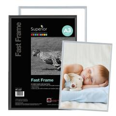 5 Star Facilities (A4) Snap Photo Frame with Non-Glass Polystyrene Front Back-Loading 220 x 17 x 307mm (Black) Image
