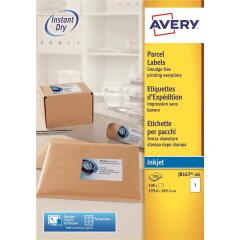 Avery Quick DRY Addressing Labels Inkjet 1 per Sheet 199.6x289.1mm White (100 Labels) Image