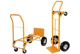 5 Star Facilities Universal Hand Trolley and Platform Truck Capacity 250kg Foot Size W550 x L460mm (Yellow)