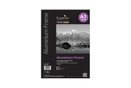 Unbranded Photo Frame (A1) Clip In Aluminium with Clear Styrene Front