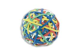 5 Star Rubber Band Ball Of 200 Bands Natural Rubber (Assorted)
