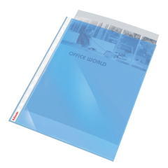 Esselte (A4) Quality Polypropylene Multi-punched Pocket Top-opening (Blue) Pack of 10 Image