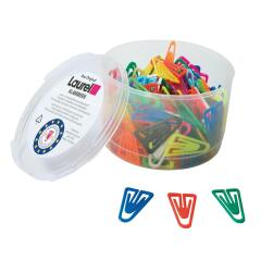 Laurel Plastiklip (25mm) Plastic Non-Magnetising (Assorted) Paper Clips (1 x Pack of 500) Image