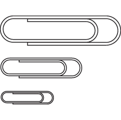 5 Star Office Paperclips Metal Large 33mm Plain [Pack 10x100] Image