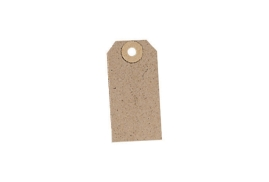 Unbranded Unstrung Tag (82mm x 41mm) Buff (1 x Pack of 1000)