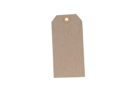 Unbranded Unstrung Tag (120mm x 60mm) Buff (1 x Pack of 1000)