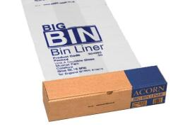 Acorn Big Bin Liners (1092 x 762mm) 160-litres Re-usable Clear/Printed (Roll of 50)