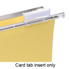 5 Star Office Card Inserts for Clenched Bar Suspension File Tabs (White) Pack of 50 Image