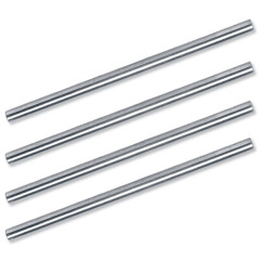 5 Star Office Risers for Letter Tray Chrome Plated 53mm [Pack 4] Image