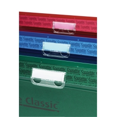 Rexel Crystalfile Clear Plastic Tabs (Pack 50) for Suspension Files Image