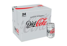 Coca-Cola Coca Cola (330ml) Diet Coke Pack of 24 Cans