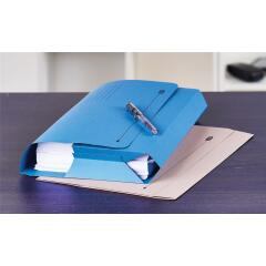 Elba Probate (Foolscap) Wallets Full Flap Heavyweight 285g/m2 500-Sheets 65mm (Blue) Pack of 25 Image