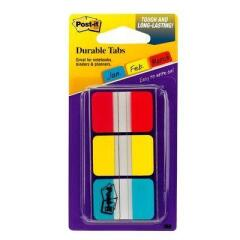 Post-It Post-it (25mm) Strong Index Colour Tabs (Red/Yellow/Blue) 22 Tabs/Colour 3 Colours/Pack Image