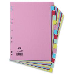 Elba (A4) Card Dividers Europunched 15-Part Assorted  Image
