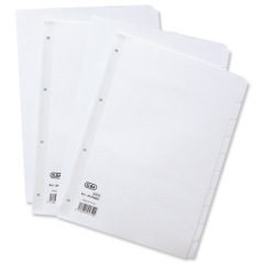 Elba (A4) Dividers Europunched 12-Part White  Image