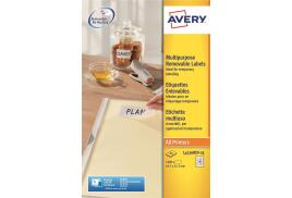 Avery L4736REV-25 Removable Mini Labels (45.7 x 21.2mm) White (Pack of 1200 Labels)
