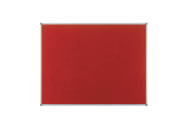 Nobo Classic (900 x 600mm) Noticeboard with Red Felt Surface, Aluminium Frame and Wall Fixing Kit