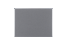 Nobo Classic (900 x 600mm) Noticeboard with Grey Felt Surface, Aluminium Frame and Wall Fixing Kit