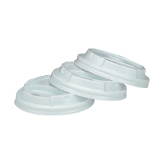 Unbranded Vented Lids for 8oz 236ml Vending Cups White (Pack of 100) Image