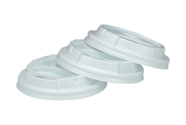 Unbranded Vented Lids for 8oz 236ml Vending Cups White (Pack of 100)