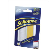 Sellotape Sticky Hook-and-Loop Strips in a Wallet (20 x 450mm) Image