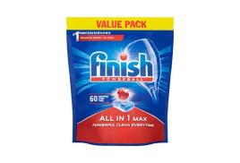 Finish Dishwasher Powerball Tablets All-in-1 (Pack of 60 Tablets)
