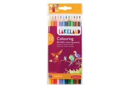 Lakeland Dairies Lakeland Soft Blendable Round-barrelled Colouring Pencils (Assorted Colours)  Pack of 12