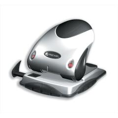 Rexel P240 Heavy Duty 2-Hole Punch (Black/Silver) with Nameplate Image