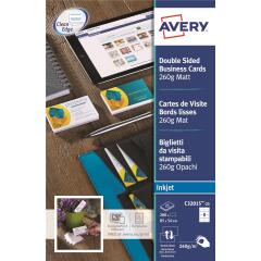 Avery Quick&Clean Double Sided Matt Inkjet Business Cards (White) Pack of 200 Cards Image