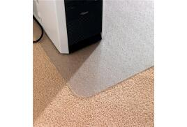 Floortex Computex Advantagemat Anti-static Rectangular Mat with Lip for Low Pile Carpet (1200 x 900mm) Clear