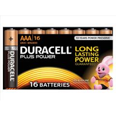 Duracell (AAA) Plus Battery Alkaline 1.5V (Pack of 16) Image