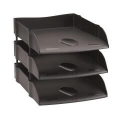Avery Desktop Range DR100 EcoFriendly Self Stacking Letter Tray (Black) Image