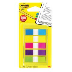 Post-It Post-it Index Small in Portable Pack Bright Colours (5 x 20 Flags) Image