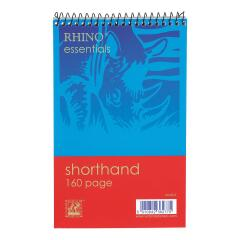 5 Star Value (127x200mm) Shorthand Pad Wirebound 60g/m2 Ruled 160 Pages (Blue/Red) Pack of 10 Image