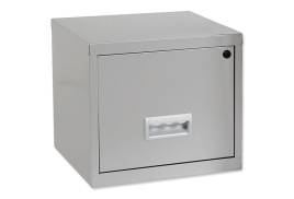 Pierre Henry Filing Cube Cabinet Steel Lockable 1 Drawer A4 (Silver) Ref 599000