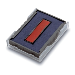Trodat T6/4750 Replacement Ink Pad (Blue & Red) Pack of 2 - Compatible with 4750 Image