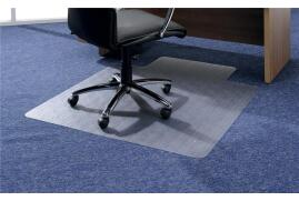 5 Star Office Chair Mat Carpet Protection PVC W1150xD1340mm Clear/Transparent