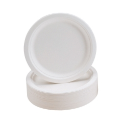 Unbranded Rigid Biodegradable Microwaveable Plates 230mm Diameter (1 x Pack of 50) Image