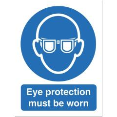 Stewart Superior M004SAV Self-Adhesive Vinyl Sign (150x200mm) - Eye Protection Must Be Worn Image