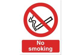 Stewart Superior No Smoking Sign W150xH200mm Self-Adhesive Vinyl