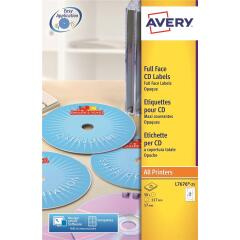 Avery Laser Full Face 117m Labels (White) Image