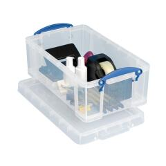 Really Useful (5L) Plastic Lightweight Robust Stackable Storage Box (Clear) Pack of 3 Image