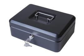 Unbranded Cash Box with Simple Latch and 2 Keys plus Removable Coin Tray