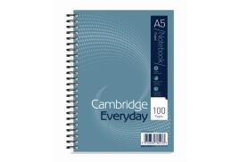 Cambridge Everyday (A5) Notebook Wirebound 100 Pages 60g/m2 Punched 2-Holes Ruled Perforated (Pack 10)
