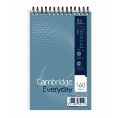 Cambridge Everyday (125mm x 200mm) Wirebound 160 Pages 60g/m2 Ruled Perforated Reporters Notebook - Pack of 5 Image