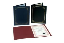 Unbranded Certificate Covers Linen Finish Heavyweight Card Stock (Black) 240g Pack of 5